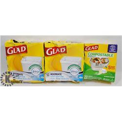 BAG OF GLAD GARBAGE BAGS