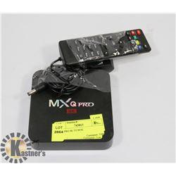 MXQ PRO 4K TV BOX.