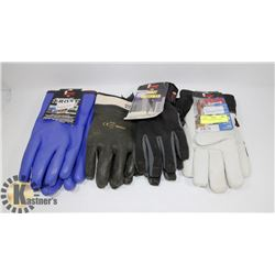 4 PAIRS OF ASSORTED WORK GLOVES