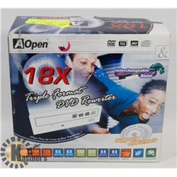 FACTORY SEALED AOPEN 18X TRIPLE