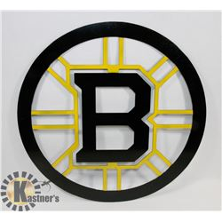 "18"" BOSTON BRUIN METAL ART."
