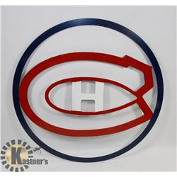 "18"" MONTREAL CANADIENS METAL ART."