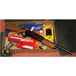 BOX W/ VARIOUS NERF GUNS ETC.