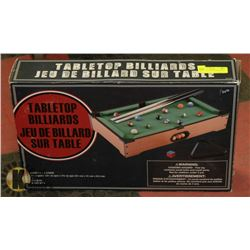 NEW TABLE TOP BILLIARDS POOL