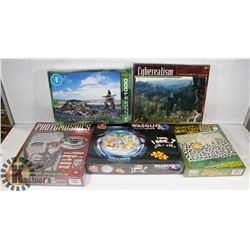 FLAT OF 5 SEALED PUZZLES VARIETY