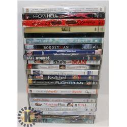BUNDLE OF ASSORTED DVDS INCLUDING DIRTY DANCING 2