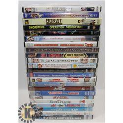 BUNDLE OF ASSORTED DVDS INCLUDING MARVELS AVENGERS
