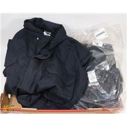 3 PAIRS OF 46R FLAME RESISTANT COVERALLS.