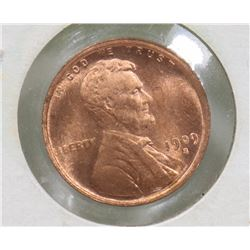 1909 UNITED STATES ONE CENT COIN.