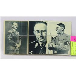 LOT OF 3 GERMAN WWII PICTURES ADOLF HITLER AND