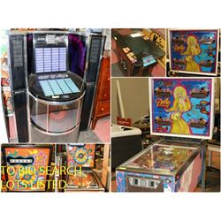 FEATURED JUKEBOX AND ARCADE GAMES