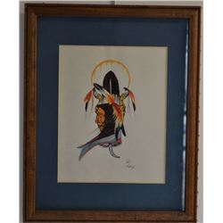 CREEK INDIAN PAINTING (HARJO)