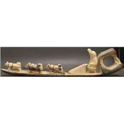 INUIT INDIAN IVORY SCULPTURE