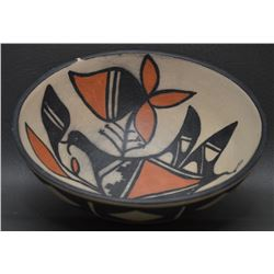 SANTO DOMINGO INDIAN POTTERY BOWL ( PAULITA  PACHECO)