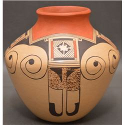 HOPI INDIAN POTTERY VASE (CLINTON NAMPEYO)