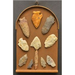 COLLECTION OF STONE SPEAR HEADS