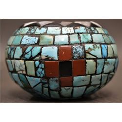 SOUTHWEST MOSAIC SEED JAR (PETER HESTER)
