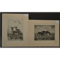 POTAWATOMI INDIAN ETCHINGS (WOODY CRUMBO)
