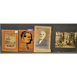 COLLECTION OF ANTIQUE PHOTO AND BOOKS