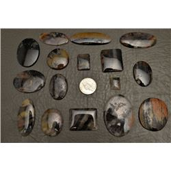 COLLECTION OF PICTURE AGATE CABS