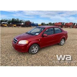 2008 CHEVROLET AVEO LS 4-DOOR CAR