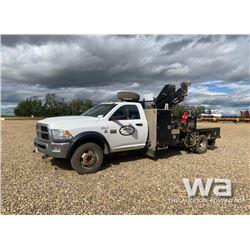 2012 DODGE 5500HD CREW CAB 4X4 BOOM TRUCK