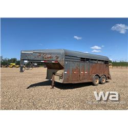 1999 BERGEN T/A 5TH WHEEL STOCK TRAILER