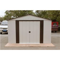 UN-USED 8 X 11 FT. STEEL STORAGE SHED