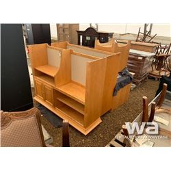 OFFICE DESK WITH TOP HUTCH