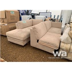 SUEDE FABRIC SECTIONAL