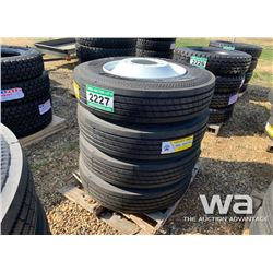 (4) 11R24.5 GRIZZLY TIRES & RIMS