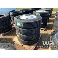 (4) GRIZZLY 11R24.5 TRUCK TIRES & RIMS