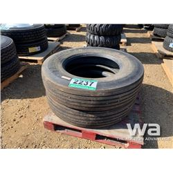 (2) MICHELIN 11R24.5 TRUCK TIRES