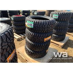 (4) GRIZZLY 33X12.5R20LT TRUCK TIRES