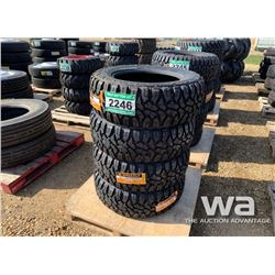 (4) GRIZZLY 35X12.5R20 TRUCK TIRES