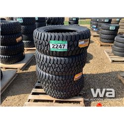 (4) GRIZZLY 35X12.5R20LT TRUCK TIRES