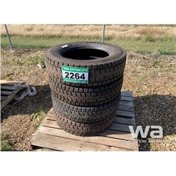 (4) CONTINENTAL 225/70R19.5 TIRES