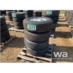 (4) GOOD YEAR 265/70 R17 ALUMINUM RIM TIRES