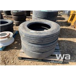 (3) GENERAL 11R24.5 TRUCK TIRES