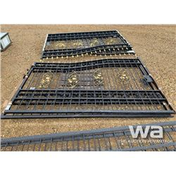 20 FT. HD BI-PARTING WROUGHT IRON DRIVEWAY GATES