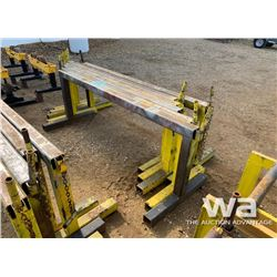 (5) SAWHORSE PIPE STANDS