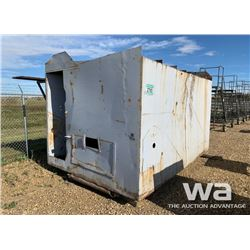 8 X 10 FT. STEEL FUEL SHED