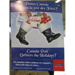CANADA POST POSTER (CANADA POST DELIVERS THE HOLIDAYS)