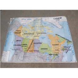 """MAP OF CANADA ( 26"""" TALL X 39"""" LONG)"""