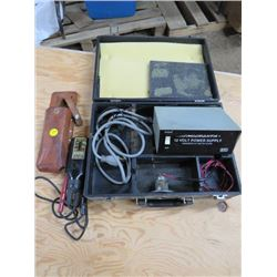 VOLTAGE TESTER AND 12 VOLT POWER SUPPLYU (WIGGINTON-SQUARE D COMPANY AND MICRONTA)