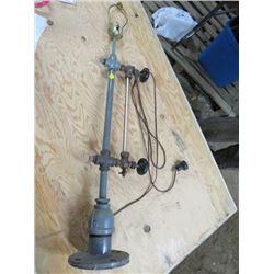 "HOME MADE STEAMPUNK LAMP (37"" TALL)"