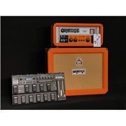 ORANGE 40TH ANNIVERSARY OR50 AMP HEAD WITH ORANGE 120 WATT 16 OHM CAB, AND LINE 6 POD XT LIVE