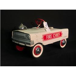 "MURRAY ""TOOTH GRILLE"" WHITE FIRE CHIEF'S PEDAL CAR,"
