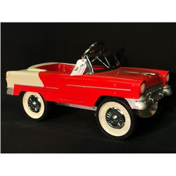 1955 CHEVROLET RED AND WHITE PEDAL CAR,