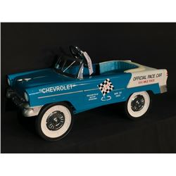 1955 CHEVROLET TURQUOISE AND WHITE PEDAL CAR,